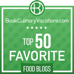 We're one of BookCulinaryVacations.com's Top 50 Favorite Food Blogs